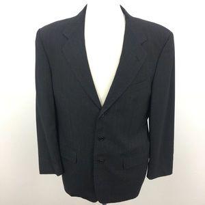 Valentino Charcoal Wool Blazer Jacket